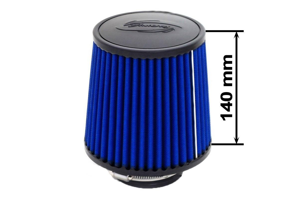Filtr stożkowy SIMOTA JAU-X02201-06 60-77mm Blue - GRUBYGARAGE - Sklep Tuningowy